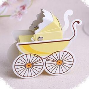 10 Pieces Of Baby Carriage Party Favor Boxes 🌸